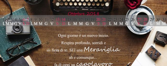 Calendario di Ottobre da Scaricare – Un regalino per te ♥
